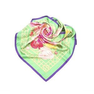 Hermès Bufanda verde Seda