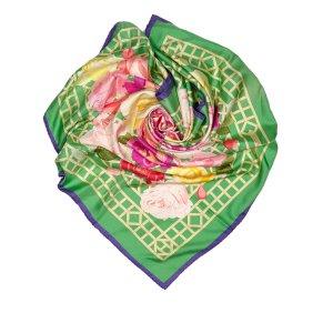 Hermès Sjaal groen Zijde