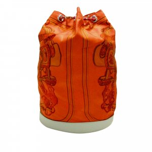 Hermès Rugzak oranje Zijde