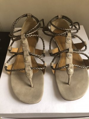 Hermès Roman Sandals grey-cream
