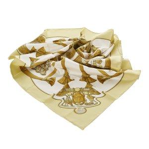 Hermès Scarf white silk