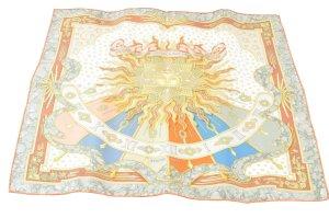 Hermès Gebreide sjaal oranje Zijde