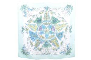 Hermès Gebreide sjaal groen Zijde