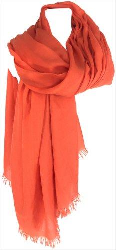 Hermès Foulard orange tissu mixte