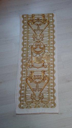 Hermès Bufanda de seda color oro-beige claro