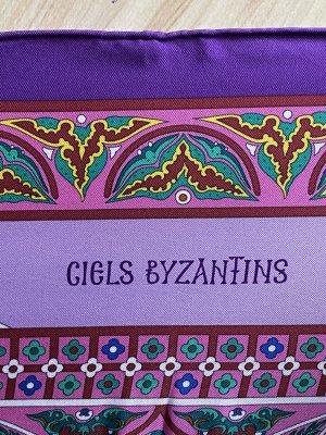 Hermès Foulard en soie violet-violet soie