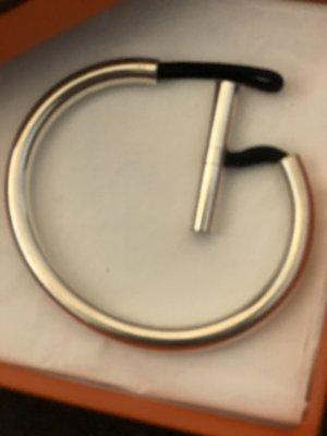 Hermès Bangle srebrny