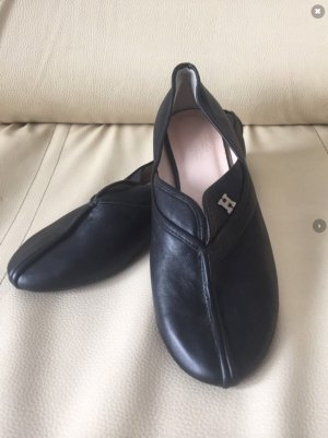 Hermès Ballerines pliables noir cuir