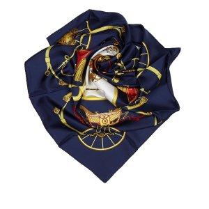 Hermès Sjaal blauw Zijde