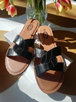 Sandalias de playa negro-marrón