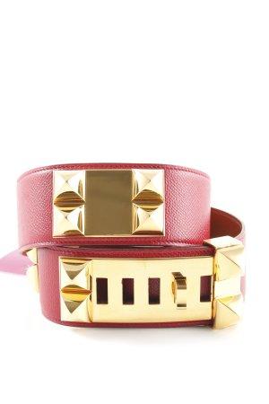Hermès Taillengürtel rot-goldfarben Elegant