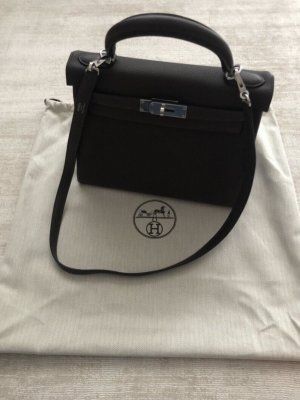 Hermès Handbag black brown leather