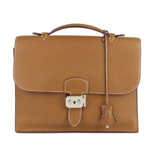 Hermès Serviette brun cuir