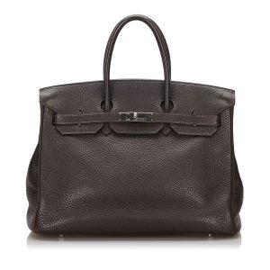 Hermès Bolso marrón oscuro Cuero