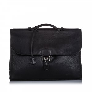Hermès borsa ventiquattrore nero Pelle