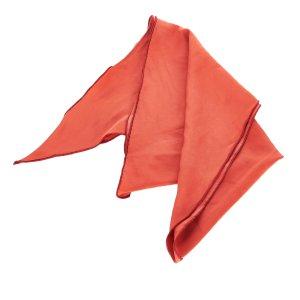 Hermès Scarf orange silk