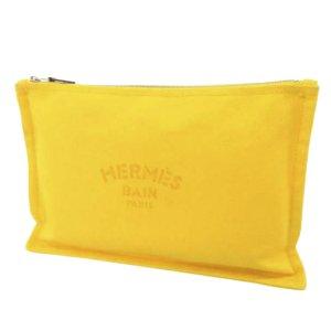 Hermès Sac seau jaune coton
