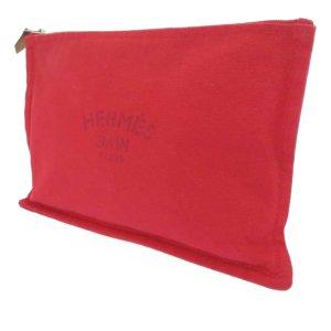Hermès Pouch Bag red cotton
