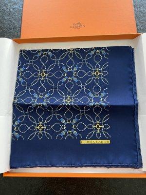 Hermès Silk Cloth dark blue-primrose