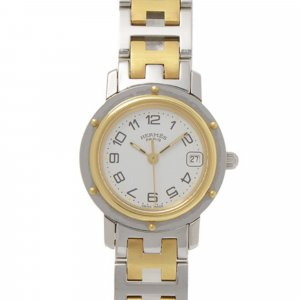 Hermes Two-Tone Clipper Watch