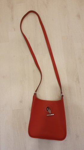 Hermès Vespa TPM in rot mit silber Hardware
