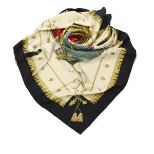 Hermes Vue de Carrosse de la Galere la Reale Silk Scarf