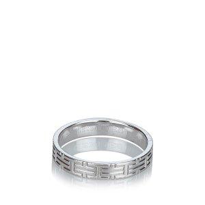 Hermes White Gold Kilim Ring