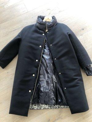 Herno Manteau en duvet noir-blanc cassé