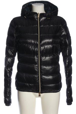 Herno Dwustronna kurtka czarny-niebieski Pikowany wzór W stylu casual