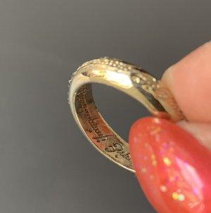 Bague en or doré métal