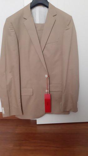 Hugo Boss Abito business crema-color cammello Cotone
