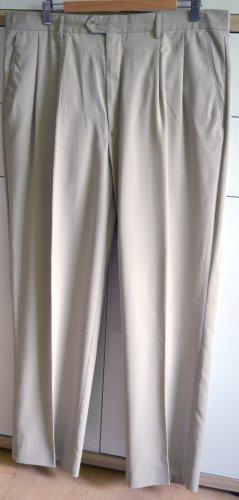 Herren Bundfaltenhose, Farbe: Beige, Größe 38/XXL, Perry Ellis