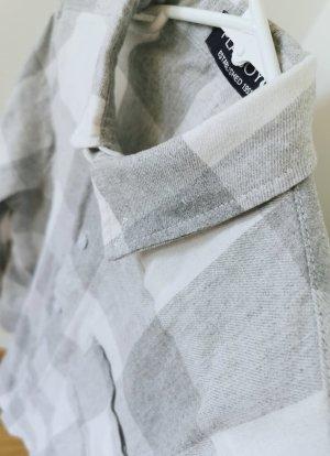 Camicia blusa bianco-grigio chiaro Cotone