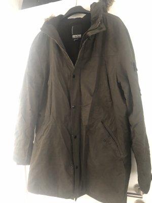 SMOG Manteau à capuche kaki