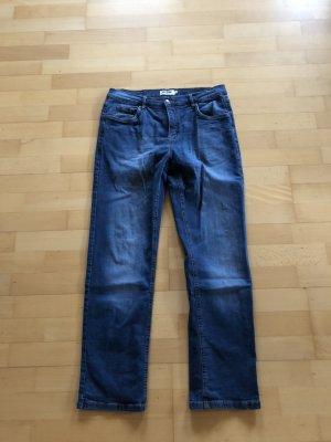 John Baner Jeans da motociclista blu Cotone
