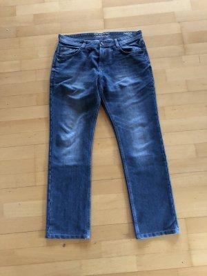 Tom Tailor Jeans da motociclista blu acciaio Cotone