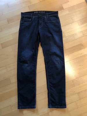 MAC Jeans Jeansy typu boyfriend ciemnoniebieski