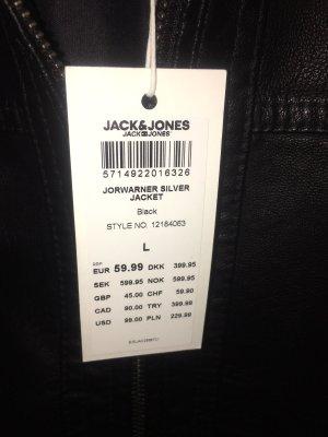 Jack & Jones Jack van imitatieleder zwart