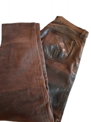 angelo litrico Leather Trousers brown leather