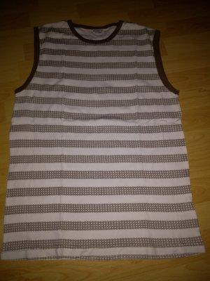 Identic Camisa de tirantes para hombres blanco-marrón