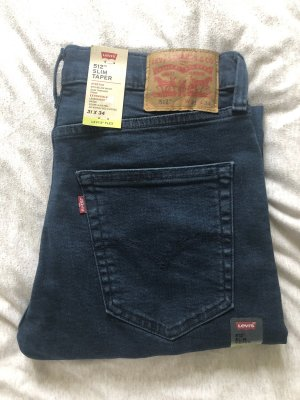 Levi's Dopasowane jeansy ciemnoniebieski