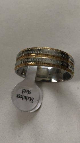 Anello di fidanzamento argento-oro
