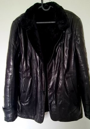Cubani collection Leather Coat black leather