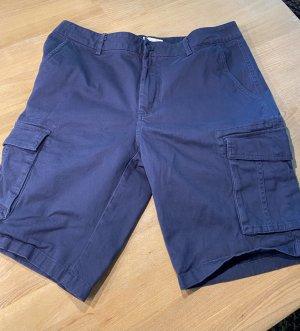 YOURTURN Pantalon cargo bleu fluo