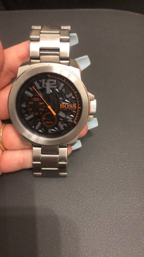Hugo Boss Watch With Metal Strap silver-colored-orange