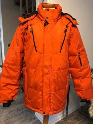 Herren Winterjacke Orange schwarz Neu