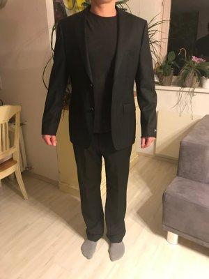 Hugo Boss Pinstripe Suit black