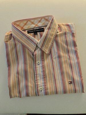 Tommy Hilfiger Camicia a maniche corte multicolore Lino