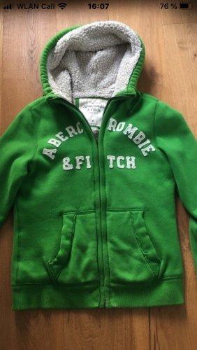 Abercrombie & Fitch Sweatjack groen-grasgroen