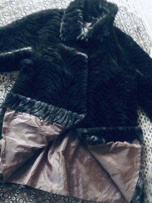 Heine Cappotto in eco pelliccia talpa-nero Cotone